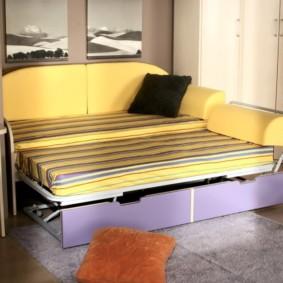 спальная комната с диваном варианты фото