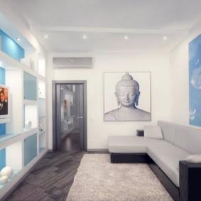 спальная комната с диваном фото вариантов