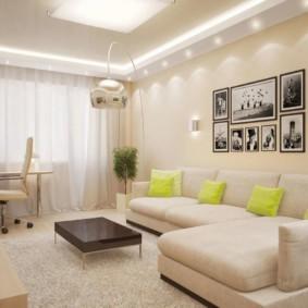 спальная комната с диваном виды