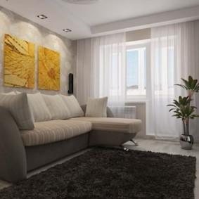 спальная комната с диваном фото виды
