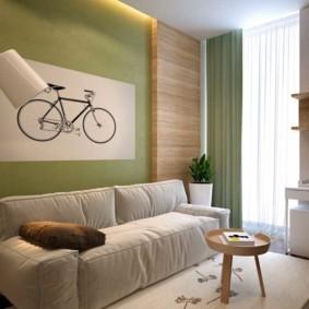 спальная комната с диваном обзор