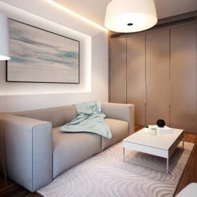спальная комната с диваном виды дизайна