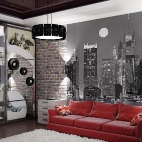спальная комната с диваном фото дизайн