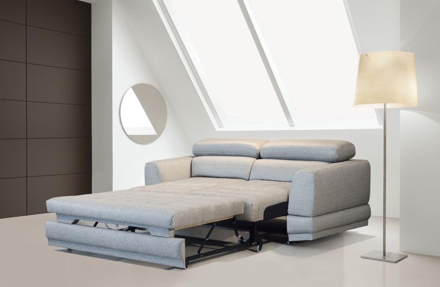 спальная комната с диваном минимализм