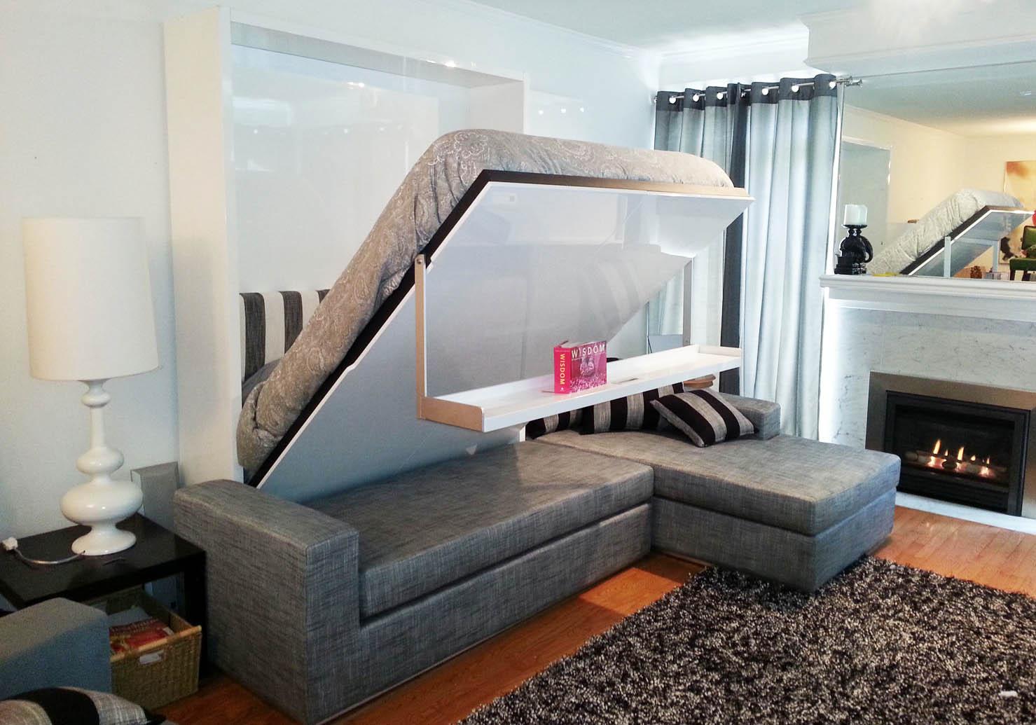 спальная комната с диваном трансформером