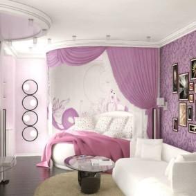 спальня для девушки фото декор