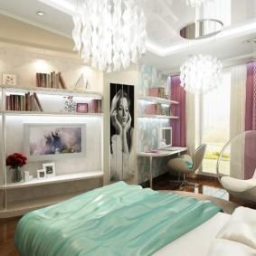 спальня для девушки фото интерьер