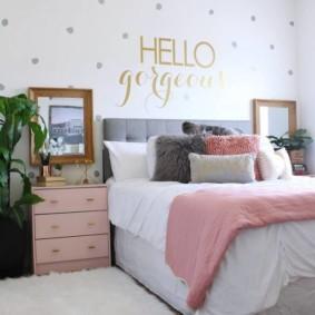 спальня для девушки фото оформление