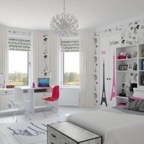 спальня для девушки идеи дизайн