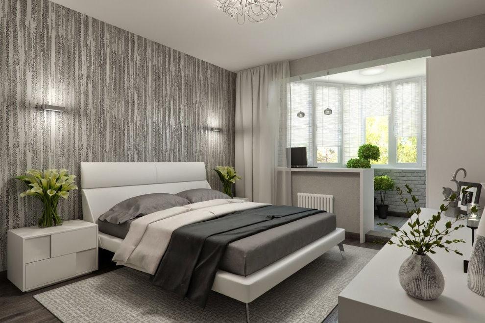 Дизайн спальни после присоединения балкона