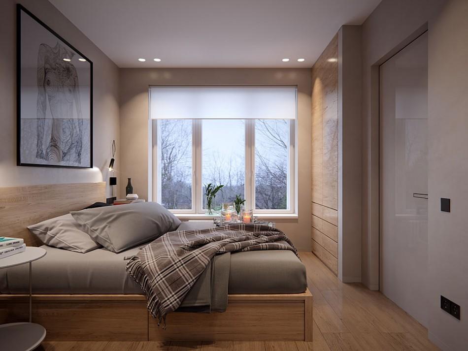 Уютная спальня в современной квартире