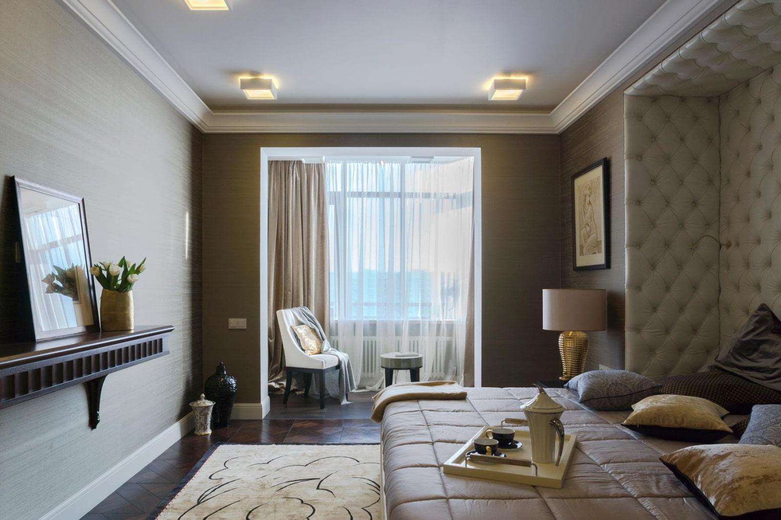 спальня в трехкомнатной квартире