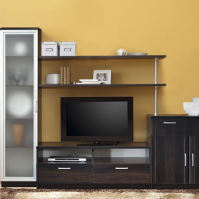стенка под телевизор в гостиную дизайн идеи