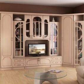 стенка под телевизор в гостиную идеи дизайн
