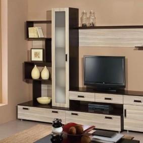 стенка под телевизор в гостиную идеи дизайна