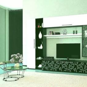 стенка под телевизор в гостиную декор