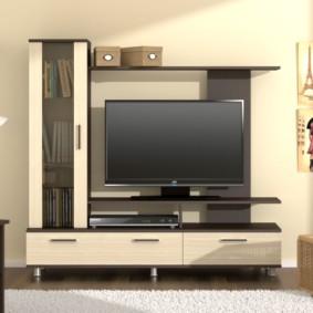 стенка под телевизор в гостиную идеи декора