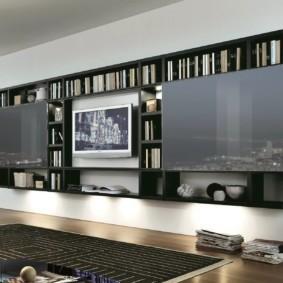 стенка под телевизор в гостиную идеи интерьера