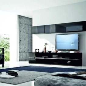 стенка под телевизор в гостиную фото оформления