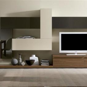 стенка под телевизор в гостиную оформление идеи