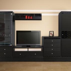 стенка под телевизор в гостиную идеи оформления