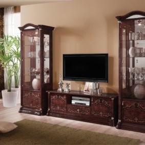 стенка под телевизор в гостиную варианты