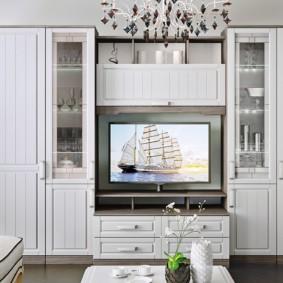 стенка под телевизор в гостиную варианты фото
