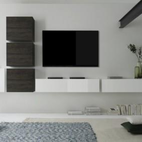 стенка под телевизор в гостиную фото вариантов