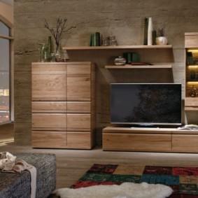 стенка под телевизор в гостиную варианты идеи