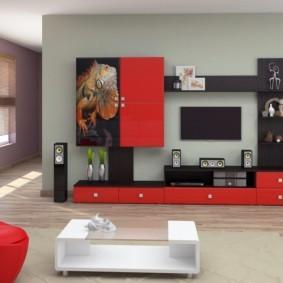 стенка под телевизор в гостиную идеи варианты