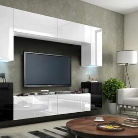 стенка под телевизор в гостиную виды