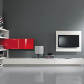 стенка под телевизор в гостиную фото видов