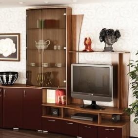 стенка под телевизор в гостиную фото дизайн