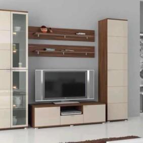 стенка под телевизор в гостиную фото дизайна