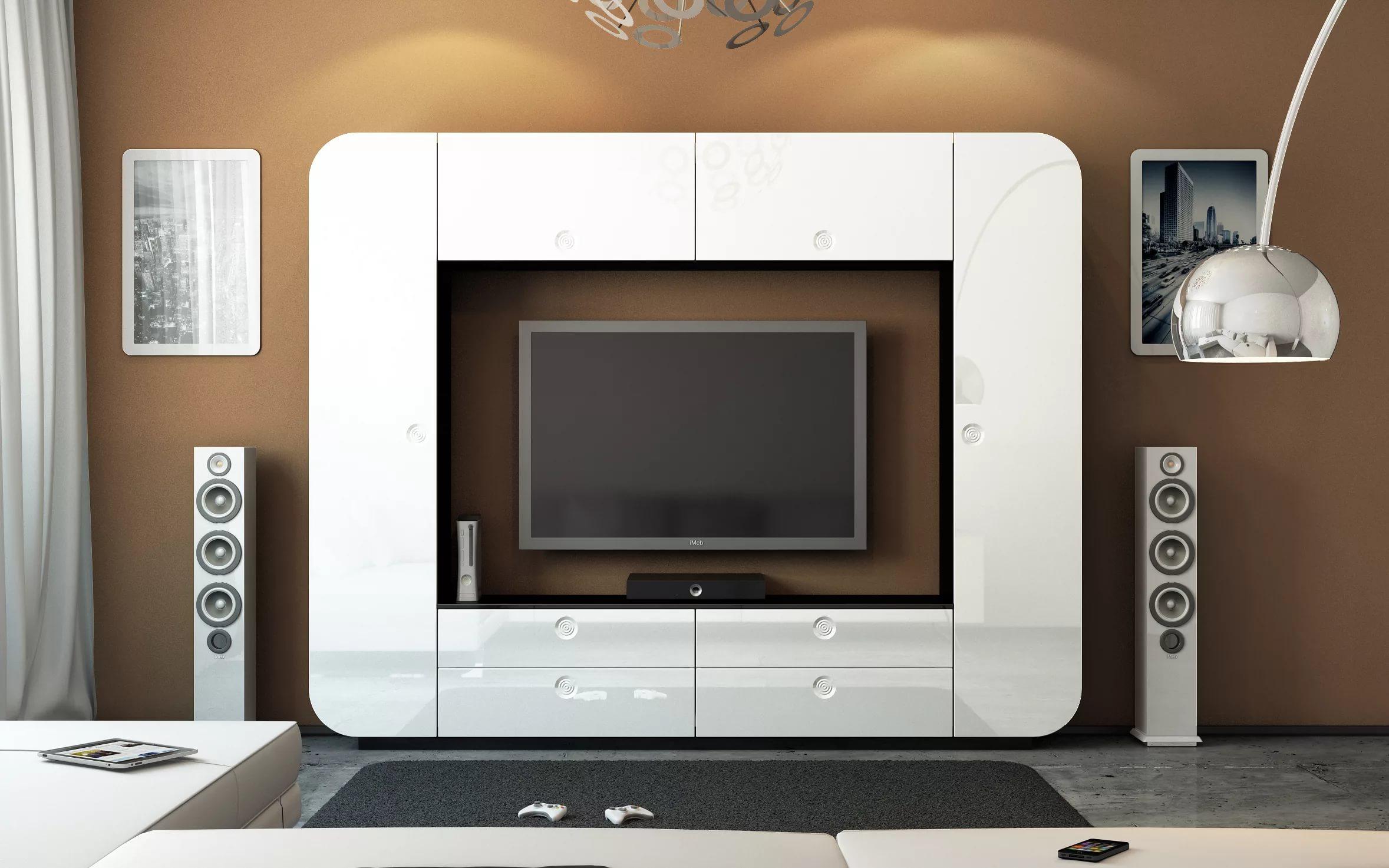 стенка под телевизор в гостиную из мдф