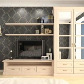 стенка в гостиную комнату идеи декор