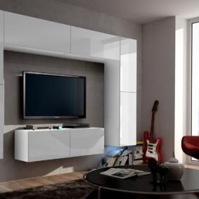 стенка в гостиную комнату идеи декора