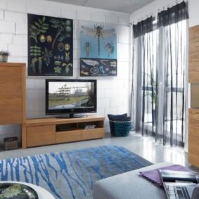 стенка в гостиную комнату фото интерьер