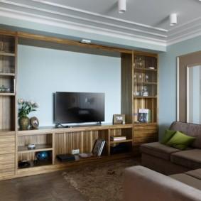 стенка в гостиную комнату фото интерьера