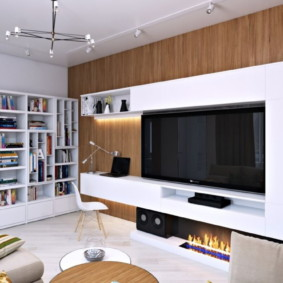 стенка в гостиную комнату фото оформление