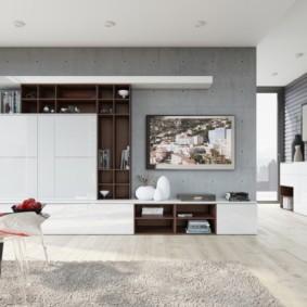 стенка в гостиную комнату идеи оформление