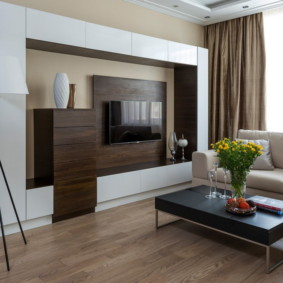 стенка в гостиную комнату идеи оформления