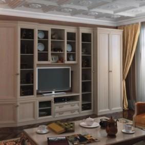 стенка в гостиную комнату дизайн