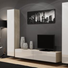 стенка в гостиную комнату дизайн фото