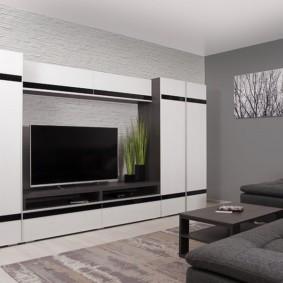 стенка в гостиную комнату виды дизайна