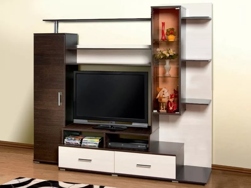 стенка под телевизор в гостиную разновидности