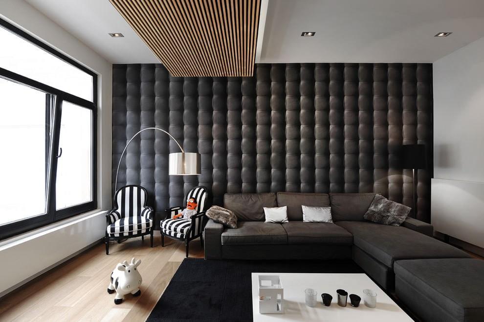 стены в гостиной