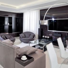 современная гостиная в квартире декор