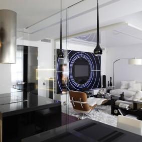 современная гостиная в квартире фото декор