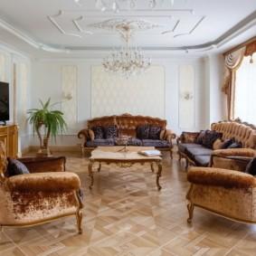 современная гостиная в квартире фото декора